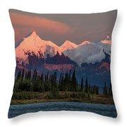 Mount Denali, Previously Known Throw Pillow