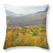 Mountains In Fall Mount Blue State Park Weld Maine Throw Pillow