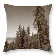 Mountainside Near Lake Tahoe Throw Pillow