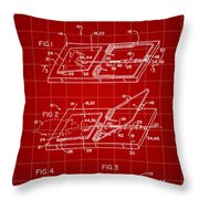 Mouse Trap Patent - Red Throw Pillow