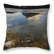 Mt. Rundle And Vermillion Lake Throw Pillow