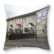 Mural In Shankill, Belfast, Ireland Throw Pillow