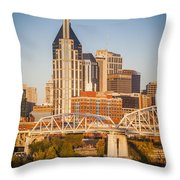 Nashville Morning Throw Pillow