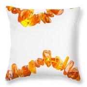 Natural Amber Necklace Throw Pillow