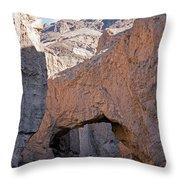 Natural Bridge Canyon Death Valley National Park Throw Pillow