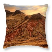 Navajo Nation Series Along 87 And 15 Throw Pillow