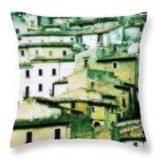 Navelli Village - Abruzzo - Italy Throw Pillow