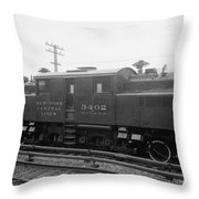 New York Central Railroad Throw Pillow