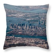 New York City Aerial Throw Pillow