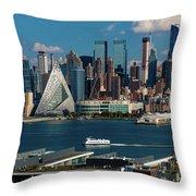 New York City Skyline As Seen Throw Pillow