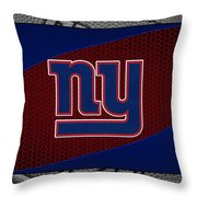 New York Giants Throw Pillow