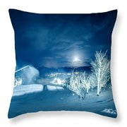 North Carolina Sugar Mountain Ski Resort Winter 2014 Throw Pillow