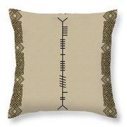 O'brien Written In Ogham Throw Pillow