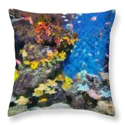 Ocean Aquarium In Shanghai Throw Pillow