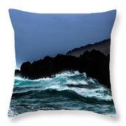 Ocean Foam In Fury Throw Pillow