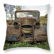 Old Junker Car Throw Pillow