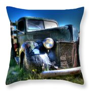 Old Truck At Bodie Throw Pillow