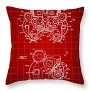 Optical Refractor Patent 1985 - Red Throw Pillow