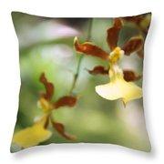 Orchids Dance Throw Pillow