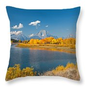 Oxbow Bend Grand Teton National Park Throw Pillow