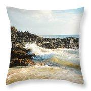 Paako Beach Makena Maui Hawaii Throw Pillow
