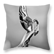 Packard Cormorant Hood Ornament Throw Pillow