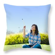 Painting The World Throw Pillow