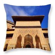 Palacios Nazaries In Granada Throw Pillow