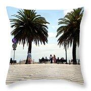 Palm Tree Illusion Throw Pillow