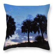 3 Palms 9/19 Throw Pillow