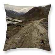 Pamir Highway Throw Pillow