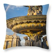 Paris Fountain Throw Pillow