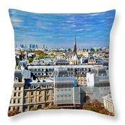 Paris Panorama France Throw Pillow
