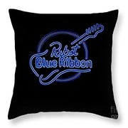 Pbr In Blue Neon Throw Pillow