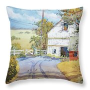 Peaceful In Pennsylvania Throw Pillow by Joyce Hicks