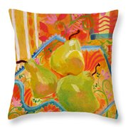 3 Pears Throw Pillow