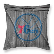 Philadelphia 76ers Throw Pillow