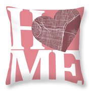 Philadelphia Street Map Home Heart - Philadelphia Pennsylvania R Throw Pillow