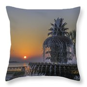 Waterfront Park Glowing Throw Pillow