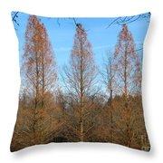 3 Pines Throw Pillow