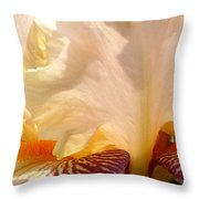 Pink And Purple Iris 2 Throw Pillow