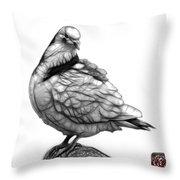 Pink Pigeon Pop Art 5516 - Fs - Bb -  Modern Animal Artist James Throw Pillow