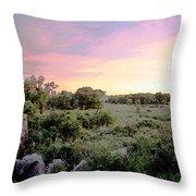 Pipestone Monument Sunset Throw Pillow