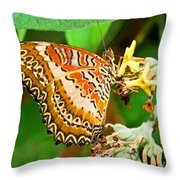 Plain Tiger Butterfly Throw Pillow