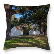 Plantation Cabins Throw Pillow