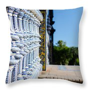 Plaza De Espana Throw Pillow