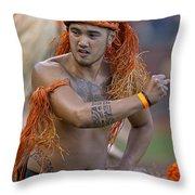 Polynesian Dancers Throw Pillow