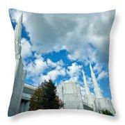Portland Oregon Lds Temple Throw Pillow