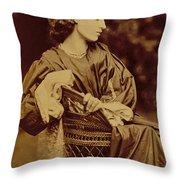 Portrait Of Jane Morris Throw Pillow