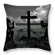 Praying Cowboys Throw Pillow